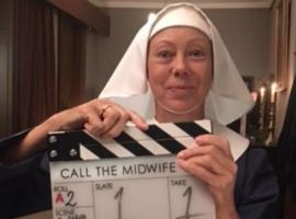 "Jenny Agutter kicking off ""Call the Midwife"" Season 8! (Photo: BBC)"