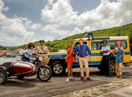 "The latest cast of ""Death in Paradise"" (Photo: BBC)"