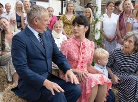 "Martin Clunes, Caroline Catz and Eileen Atkins in ""Doc Martin"" Photo: ITV"