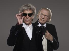 "Peter Capaldi and David Bradley as ""Doctor Who's"" Twelfth and First Doctors. (Photo: BBC)"