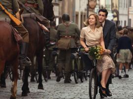 Young love and soldiers on bicycles in Poland, just before everyone's life changes forever. Harry Chase (Jonah Hauer-King) and Kasia Tomaszeski (Zofia Wichlacz) in Warsaw. Courtesy of Mammoth Screen.