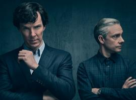 "Benedict Cumberbatch and Martin Freeman in ""Sherlock"" Season 4. (Photo: Courtesy of Todd Antony/Hartswood Films 2016 for MASTERPIECE)"