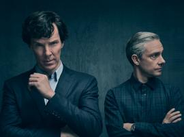 Sherlock and John look extra broody in Season 4. (Photo: Courtesy of Todd Antony/Hartswood Films 2016 for MASTERPIECE)