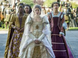 "Stephanie Levi John, Charlotte Hope, and Nadia Parkes in ""The Spanish Princess"" )Photo: Starz)"