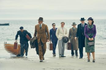 "The cast of ""And Then There Were None"" find themselves stranded. (Photo: BBC)"