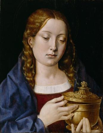 Catherine of Aragon as Mary Magdalene by Michael Sittow. Wikepedia Commons