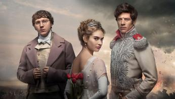 "Lily James, Paul Dano and James Norton in ""War and Peace"". (Photo: BBC)"