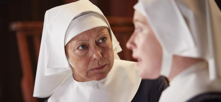 "Sister Julian and Sister Winifred in ""Call the Midwife"" (Photo:  Courtesy of Red Productions Ltd 2015)"