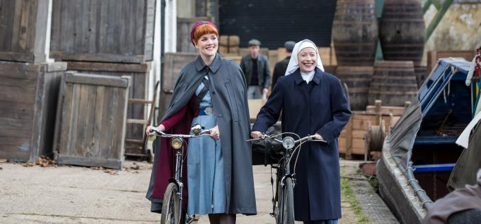 Nurse Mount and Sister Winifred  (Image: Courtesy of Neal Street Productions 2015)