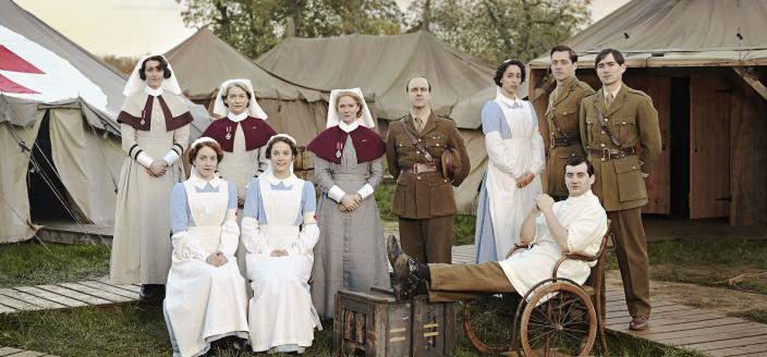 "The cast of ""The Crimson Field"" (Photo: Courtesy of BBC/Todd Anthony)"