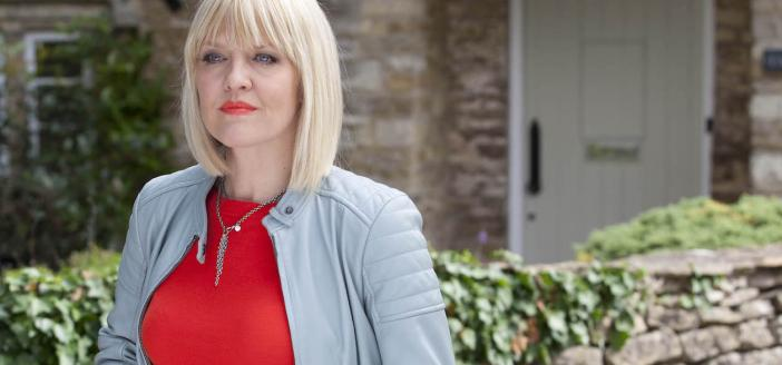 Ashley Jensen as Agatha Raisin (Photo: Acorn TV)