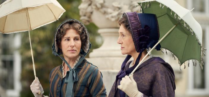 """Tamsin Grieg and Harriet Walter in """"Belgravia"""" (Photo: Carnival Films)"""