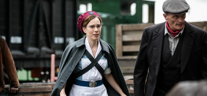 Shelagh Turner (Laura Main) to the rescue (Photo: Courtesy of Neal Street Productions 2016)