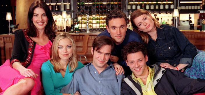 The ensemble cast of Coupling (Image courtesy of Hartswood Films and BBC)