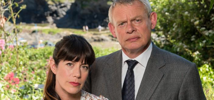 "Martin Clunes and Caroline Catz in ""Doc Martin"" (Photo: Acorn TV)"