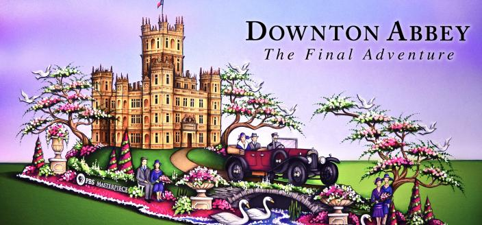 "Artists rendition of the ""Downton Abbey"" Rose Parade float. (Photo: Paradiso Parade Floats/PBS)"