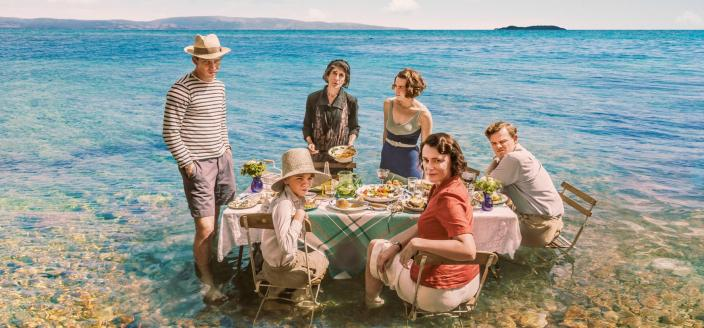 "The cast of ""The Durrells in Corfu"" (Photo: Courtesy of John Rogers/Sid Gentle Films & MASTERPIECE)"