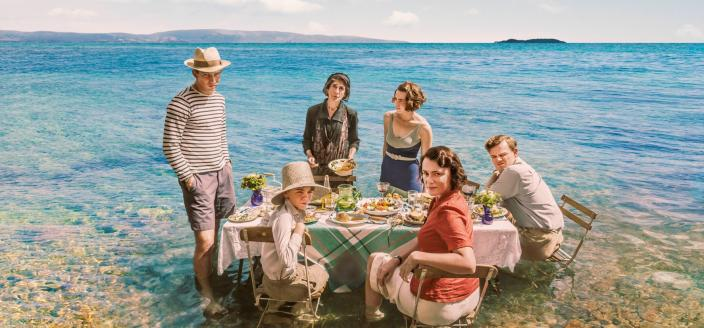 """The cast of """"The Durrells in Corfu"""" (Photo: Courtesy of John Rogers/Sid Gentle Films & MASTERPIECE)"""