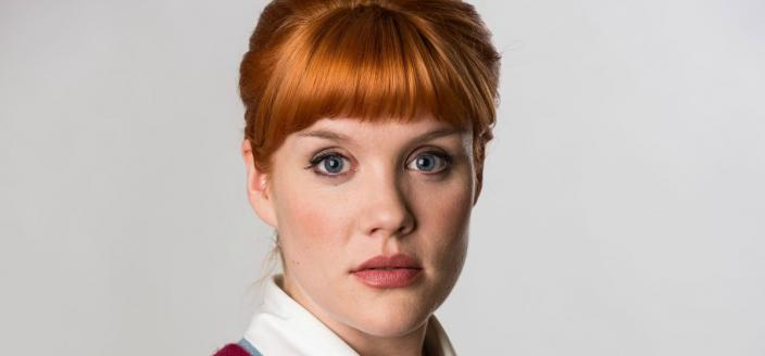 "Emerald Fennell as Patsy in ""Call the Midwife"" (Photo: Love Productions)"