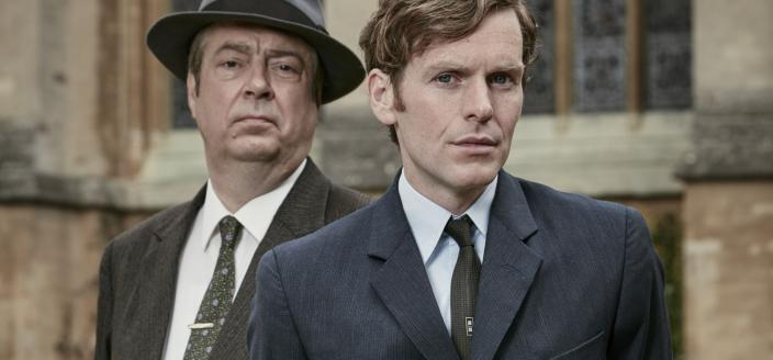 "Roger Allam and Shaun Evans in ""Endeavour"" (Photo: Courtesy of (C) Mammoth Screen/MASTERPIECE/ITV Studios)"