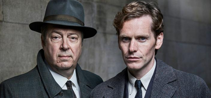 "Roger Allam and Shaun Evans in ""Endeavour"" Season 4 (Photo: Courtesy of ITV Plc and MASTERPIECE)"