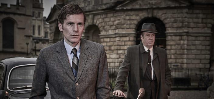 """Shaun Evans and Roger Allam in """"Endeavour"""" (Photo: Courtesy of Jonathan Ford/Mammoth Screen for ITV and MASTERPIECE)"""