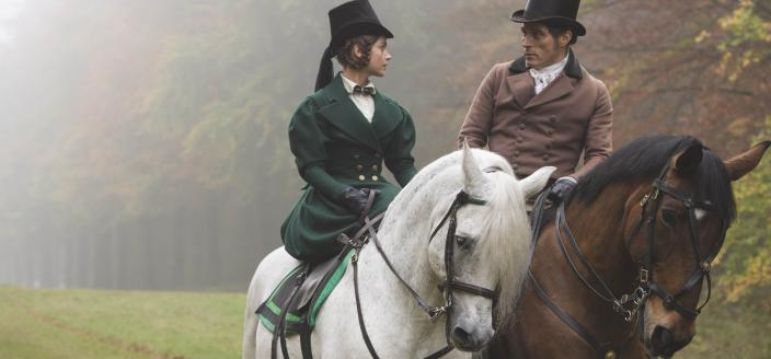 """Jenna Coleman, Rufus Sewell and some gorgeous outfits in """"Victoria"""". (Photo: Courtesy of ITV Plc)"""