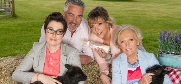 "The original ""Great British Baking Show"" gang  (Photo: Courtesy of Mark Bourdillon, Love Productions)"