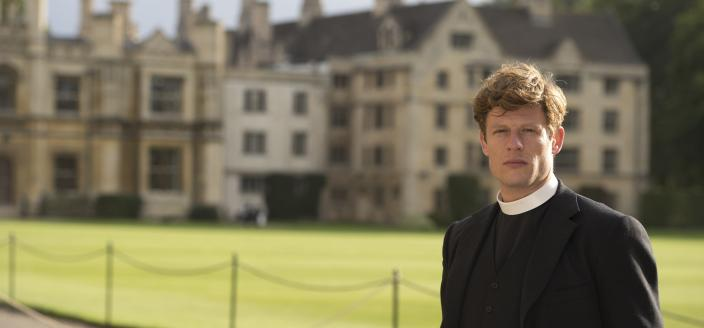 "James Norton as Sidney Chambers in ""Grantchester"" (Photo: Courtesy of (C) Des Willie/Kudos & ITV for MASTERPIECE)"