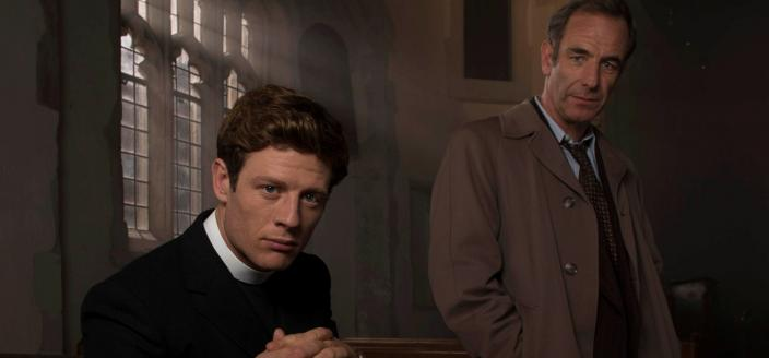 "James Norton and Robson Green in ""Grantchester"" Season 2. (Photo: Courtesy of Des Willie/Lovely Day for ITV and MASTERPIECE)"