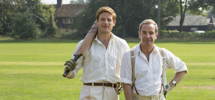 "James Norton and Robson Green in ""Grantchester"" Season 3 (Photo: Credit: Courtesy of Colin Hutton and Kudos/ITV for MASTERPIECE)"