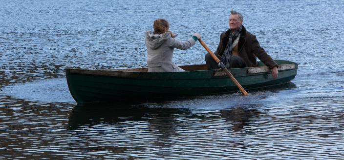 Hannah Ward (Jodie Comer) & Tom Parfitt (Michael Palin)   Photo Courtesy of © ITV plc (ITV Studios Global Entertainment)