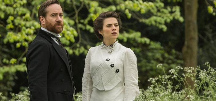 Hayley Atwell as Margaret and Matthew MacFadyen as Henry Wilcox, Courtesy of 2017 Starz Entertainment, LLC.