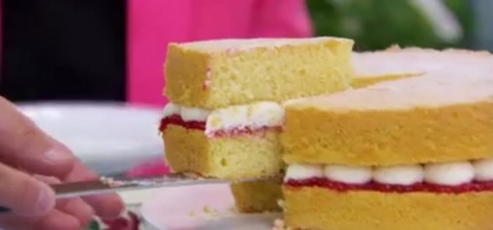 Mary Berry's Victoria Sandwich is royal cake fit for any queen. (Image courtesy of Love Productions & PBS ©2016)