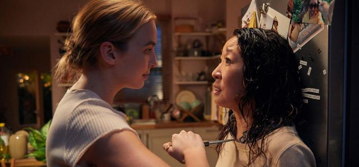 "Jodie Comer and Sandra Oh in ""Killing Eve"" (Photo: BBC America)"