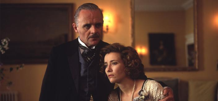 "Anthony Hopkins and Emma Thompson in ""Howard's End"" (Courtesy of Ivory Merchant Productions)"