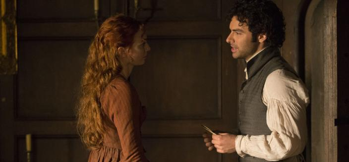 Ross and Demelza's relationship needs some work. (Photo: Courtesy of Mammoth Screen for BBC and MASTERPIECE)