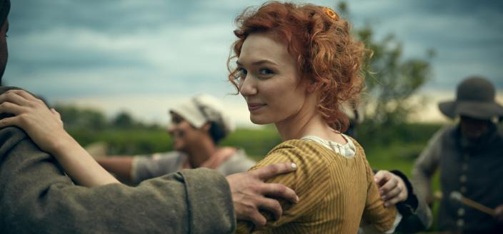 Demelza and her amazing hair shine this week. (Photo: Courtesy of (C) Robert Viglasky/Mammoth Screen for MASTERPIECE)