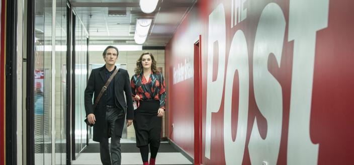 "Ben Chaplin and Laura Jane Matheson in ""Press"" (Photo: Courtesy of Lookout Point /Colin Hutton)"