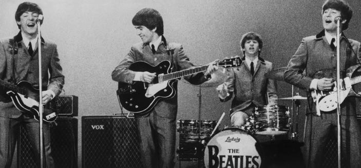 "John, Paul, George and Ringo from the documentary ""Eight Days a Week - The Touring Years."" ( Photo: Courtesy of © Apple Corps Ltd)."