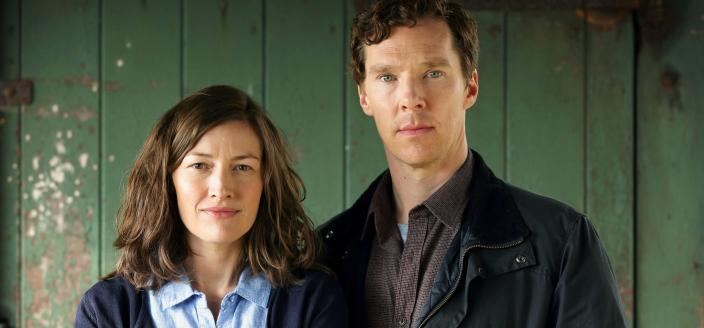 "Benedict Cumberbatch and Kelly Macdonald in ""The Child in Time"" (Credit: Courtesy of Pinewood Television, SunnyMarch TV and MASTERPIECE for BBC One and MASTERPIECE)"