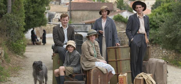 The Durrells upon their arrival in Corfu, as told by Gerald  (Photo:Courtesy of John Rogers/Sid Gentle Films for ITV and MASTERPIECE)