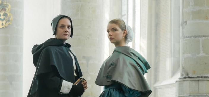 """Anna Taylor-Joy and Romola Garai in """"The Miniaturist"""" ( Photo: Courtesy of The Forge/Laurence Cendrowicz for BBC and MASTERPIECE)"""