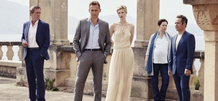 "The cast of ""The Night Manager"". (Photo: Mitch Jenkins/The Ink Factory/AMC)"