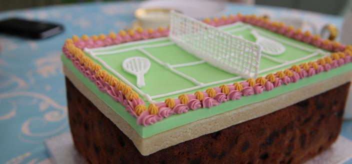 This week's technical challenge was a Victorian era tennis cake. (Photo: Love Productions)