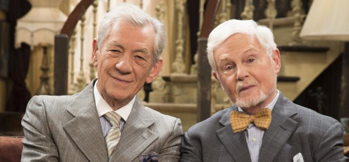 "Ian McKellen and Derek Jacobi in ""Vicious"" (Photo: Courtesy of Gary Moyes / © Brown Eyed Boy Ltd 2016)"