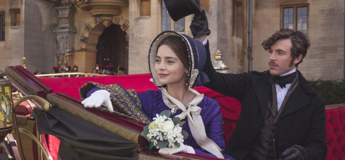 "Jenna Coleman and Tom Hughes in Season 2 of ""Victoria"" (Photo: Courtesy of ©ITVStudios2017 for MASTERPIECE)"