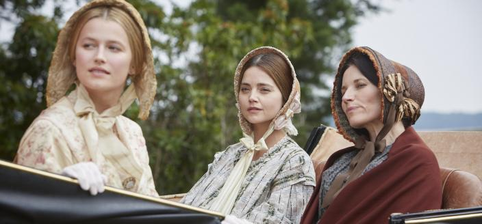 Lilly Travers, Jenna Coleman and Kate Fleetwood (Photo: Courtesy of Justin Slee/ITV Plc for MASTERPIECE)