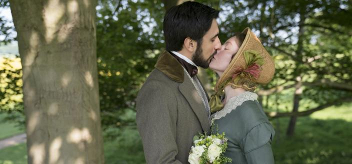 Francatelli and Skerrett finally get their big day. (Photo: Courtesy of Aimee Spinks/ITV Plc for MASTERPIECE)