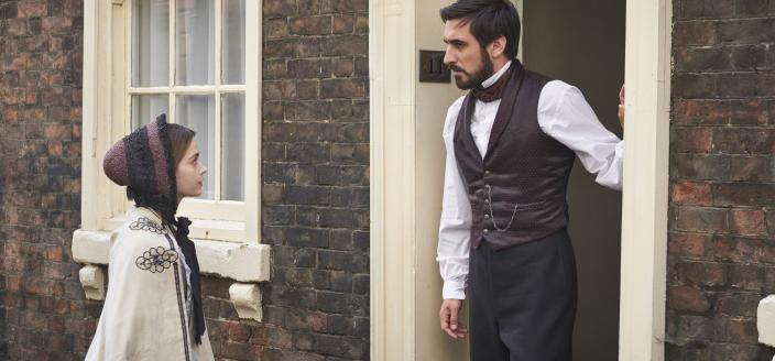 Victoria visits the Francatelli househole (Photo: Courtesy of Justin Slee/ITV Plc for MASTERPIECE)